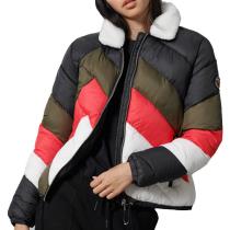 Buy Splice Padded Jacket W Navy Colourblock