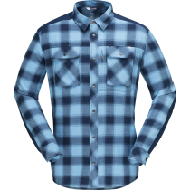 Buy Svalbard Flannel Shirt M's Heritage Blue/Indigo Night