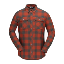Buy Svalbard Flannel Shirt M's Rooibos Tea/Slate Grey
