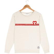 Compra Sweat Marlon Heart Heather Cream