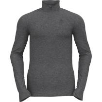 Buy T-Shirt ML 1/2 Zip Active Warm Eco Steel Grey Melange