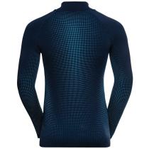 Achat T-shirt ML 1/2 Zip Performance Warm Eco Dark Sapphire - Stunning Blue