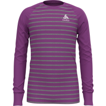 Kauf T-Shirt ML Active Warm Eco Kids Hyacinth Violet/Grey Melange/Stripes