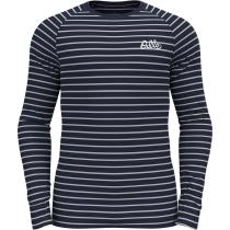 Achat T-shirt ML Active Warm Origina Dark Sapphire - Odlo Silver Grey