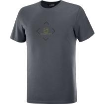 Acquisto T-Shirt Salomon Cotton Tee M Ebony/Black/Olive Night