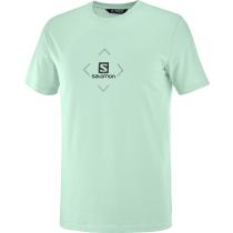 Acquisto T-Shirt Salomon Cotton Tee M Harbor Grey/Ashley Blue/Ebony