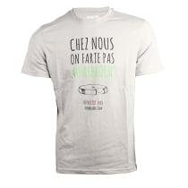 Kauf T-Shirt Chez Nous On Farte Pas Au Rebloch' Gris Chiné