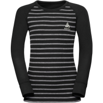 Buy T-Shirt ML Active Warm Enfants Black/Grey Melange Stripes