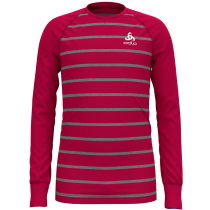 Buy T-Shirt ML Active Warm Enfants Cerise/Grey/Melange Stripes