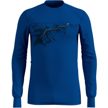 Achat T-Shirt ML Active Warm Print Energy Blue