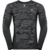 Achat T-Shirt ML Blackcomb Black/Odlo Steel Grey/Silver