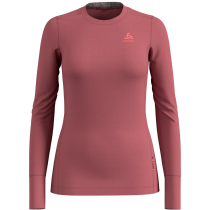 Achat T-Shirt ML Natural 100% Merino Roan Rouge/Grey Melange