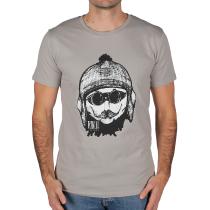 Achat T-shirt Rancho Face Coton Bio Opal grey