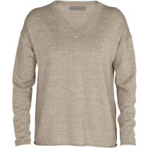 Kauf W Flaxen LS V Sweater British Tan Heather