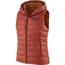 Buy W's Hi-Loft Down Hooded Vest Spanish Red