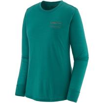 Buy W's L/S Cap Cool Merino Graphic Shirt '73 Skyline: Borealis Green