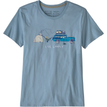 Buy W's Live Simply Lounger Organic Crew T-Shirt Berlin Blue w/Climb