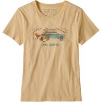Achat W's Live Simply Lounger Organic Crew T-Shirt Vela Peach w/Surf