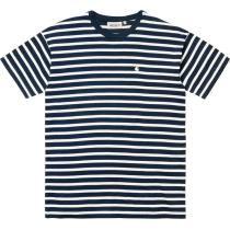 Buy W' S/S Robie T-Shirt Robie Stripe, Dark Navy / White