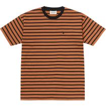 Buy W' S/S Robie T-Shirt Robie Stripe, Rum / Black