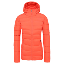 Compra W Stretch Down Hoodie Radiant Orange