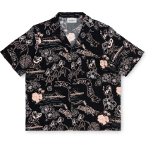 Acquisto W' S/S Aruba Shirt Aruba Print, Black / Powdery
