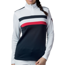 Acquisto W Stripes 1/2 Zip Dark Navy