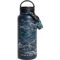 Achat Waves 32Oz Insulated Steel Water Bottle Navy