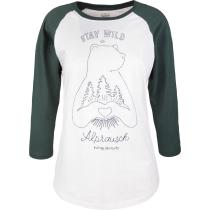 Buy Wildi Hildi 3/4 sleeve tee Snowwhite/Green