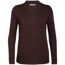 Kauf Wmns Waypoint Crewe Sweater Merlot Heather