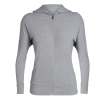 Kauf Wmns Momentum LS Zip Hood Fossil Snow Heather