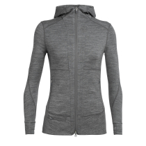Buy Wmns Quantum II LS Zip Hood Gritstone Heather