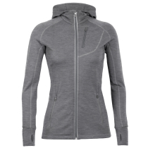 Buy Wmns Quantum LS Zip Hood Gritstone Heather