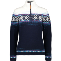 Kauf Woman Knitted Pullover Navy/B.Gesso
