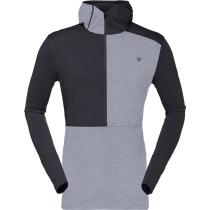 Buy Wool Hoodie M Mid Grey
