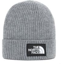 Buy Youth Tnf Box Logo Cuff Beanie Tnf Medium Grey Heather