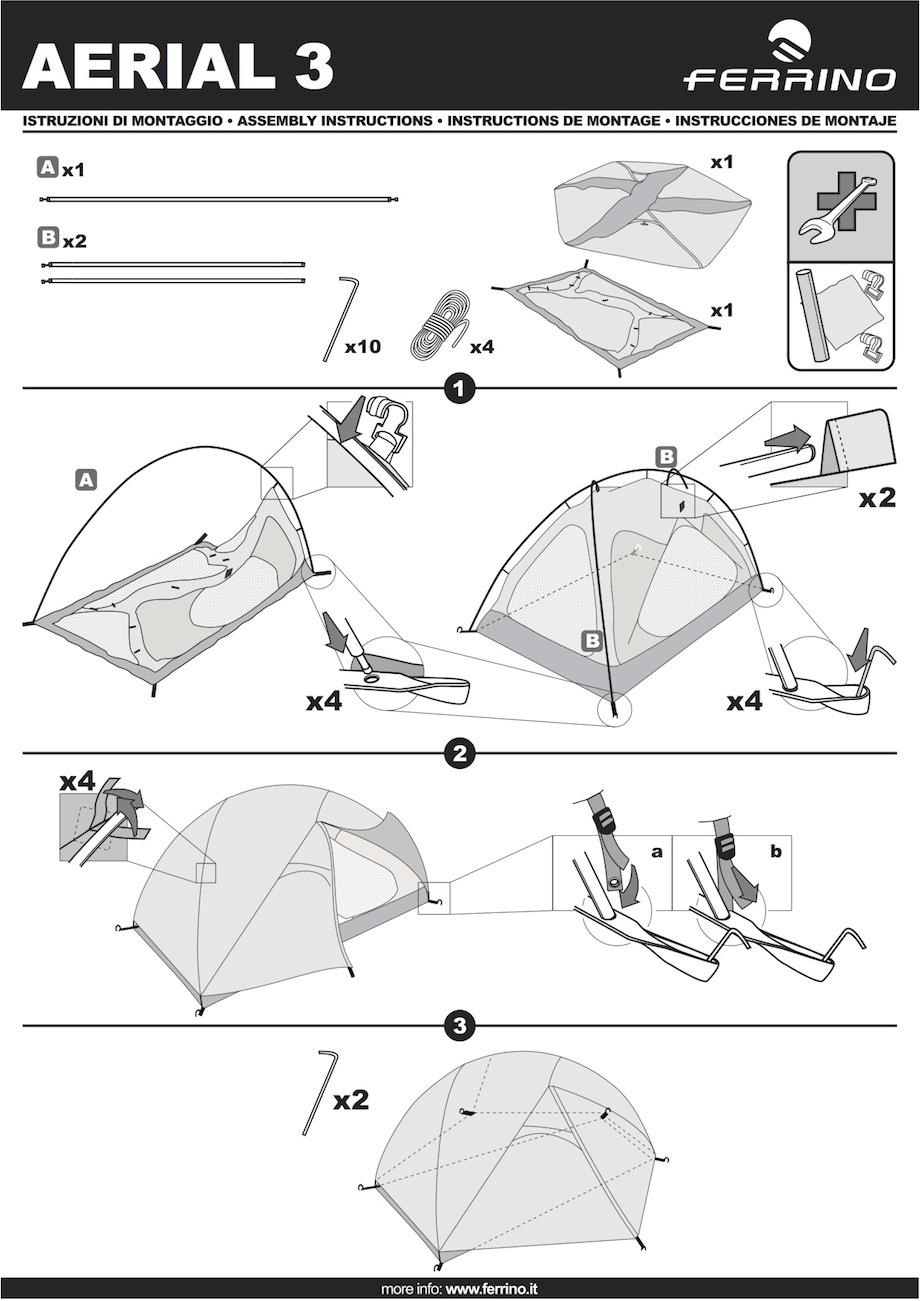 montage tente ferrino aerial 3