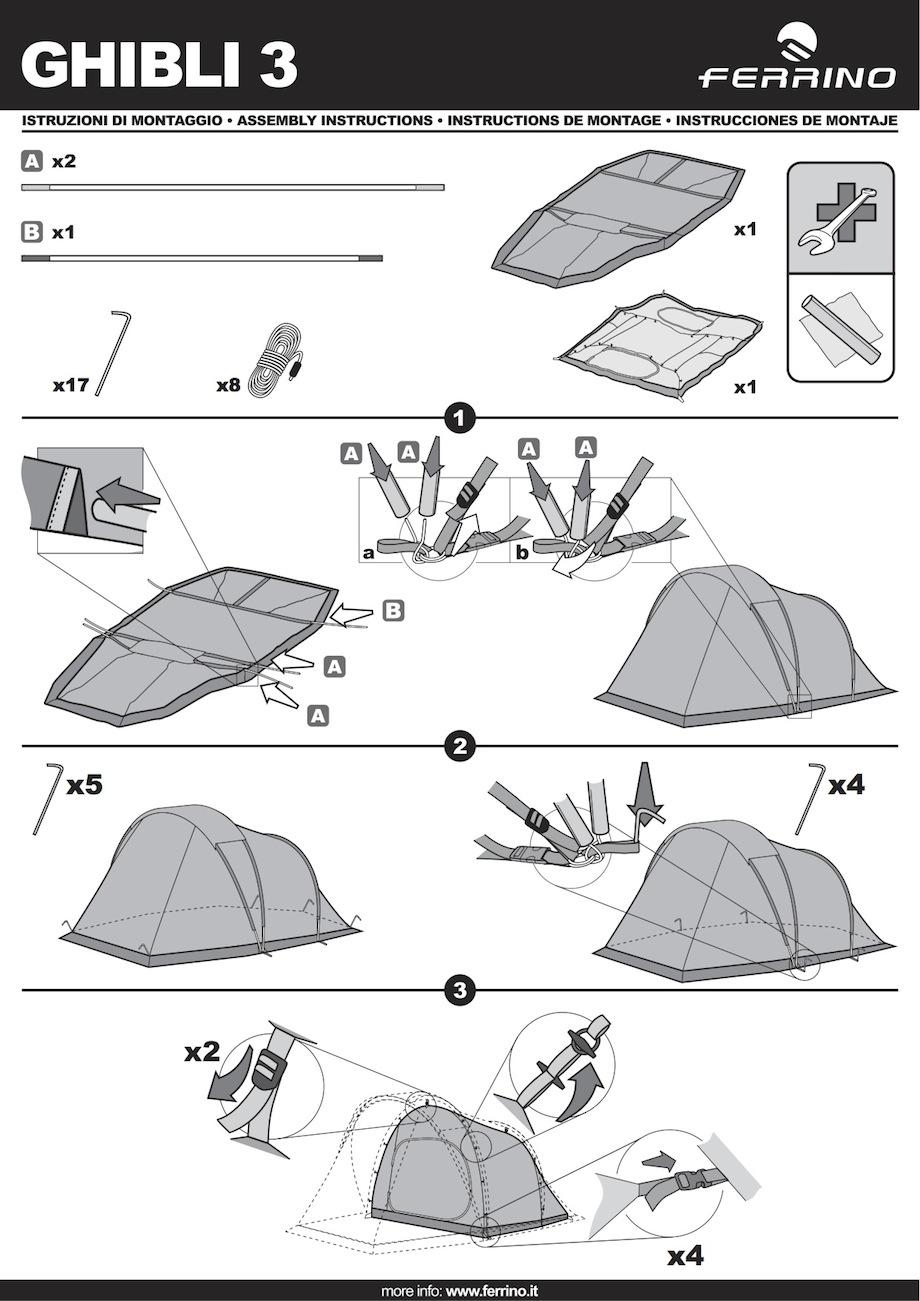montage tente ferrino ghibli 3