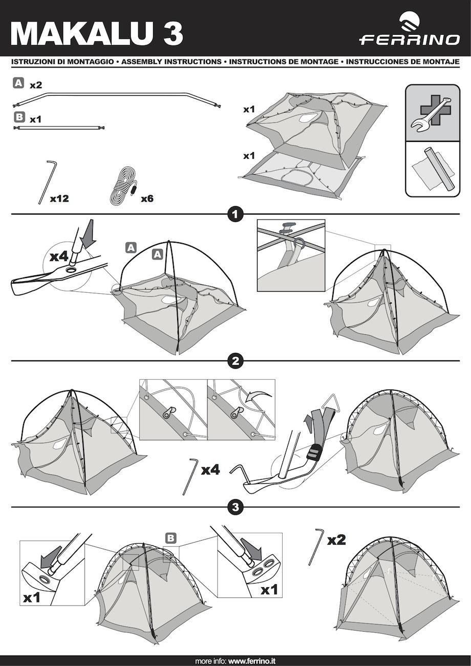 montage tente ferrino makalu 3