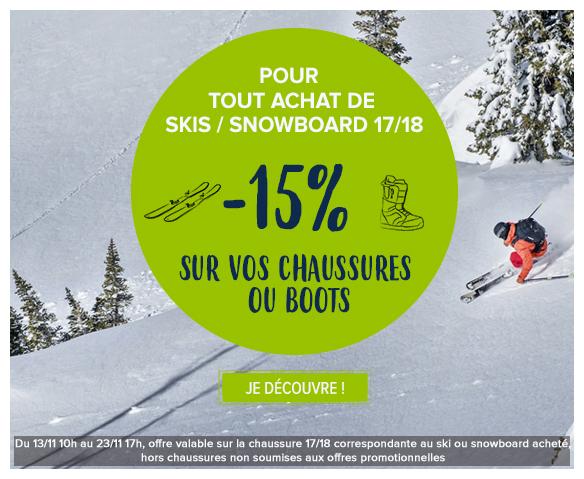 15% sur vos chaussures de ski et boots 17/18