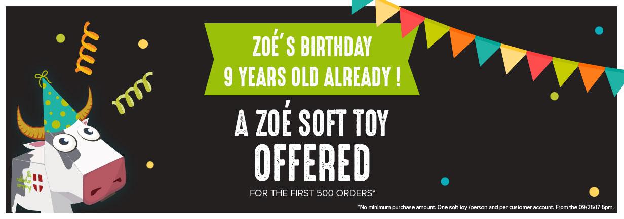 A zoé soft toy offered !