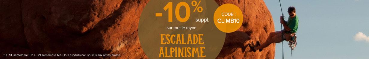 -10% sur le rayon escalade / alpinimse !
