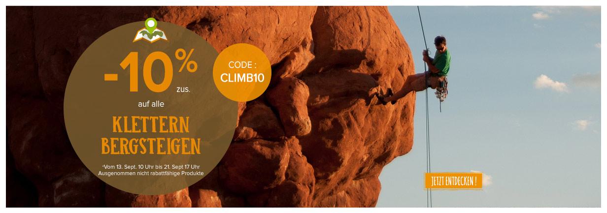 -10% zusätlich klettern bergsteigen Produkte