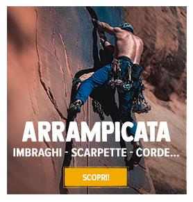 Scopri Materiale da Arrampicata : Imbraghi, Scarpette, Corde !