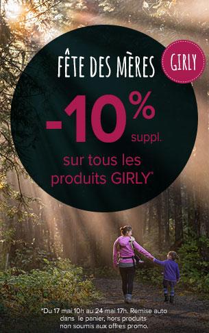 -10% sur tous les produits girly !