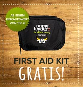 First aid kit gratis!