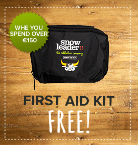 Free First Aid Kit when you spend over 150€