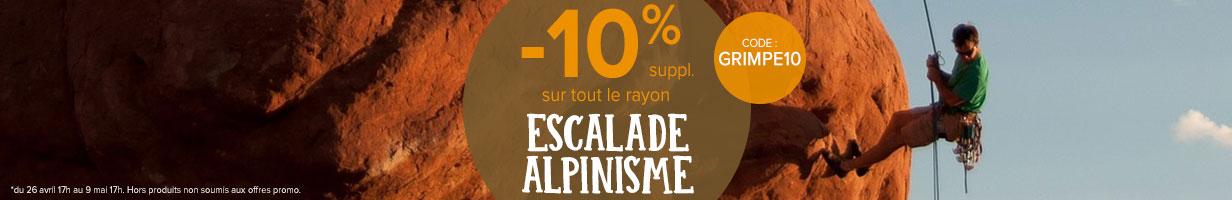 -10% sur le rayon escalade/alpinisme
