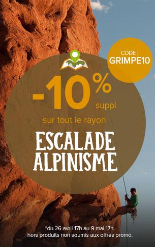 -10% sur le rayon escalade et alpinisme !