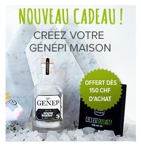 Nouveau cadeau, une bouteille de génépi offerte dès 150 CHF d'achat !